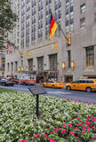 View to the Waldorf Astoria from Park Avenue Stock Images