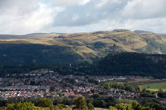 View to the wallace monument Royalty Free Stock Photo