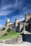 View to the walls of the Carcassonne town. View to the walls of the Carcassonne town, Languedoc-Roussillon, France Stock Photography