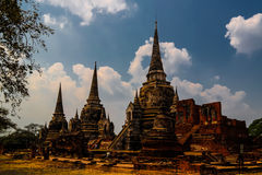 View to Wat Mahathat temple ruin, Ayutthaya Thailand Stock Images