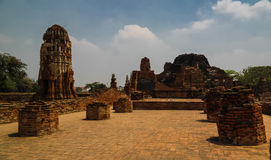 View to Wat Mahathat temple ruin, Ayutthaya Thailand Stock Image