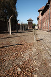 View to Watch Tower, Auschwitz Royalty Free Stock Photo