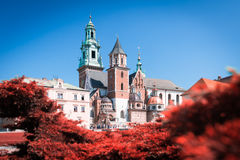View to Wawel Cathedral in Krakow, Poland. Royalty Free Stock Photos