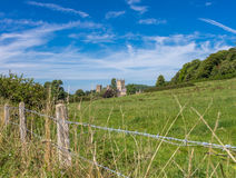 View to Wells Cathedral. View across farmland to Wells Cathedral Royalty Free Stock Images