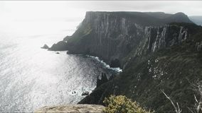 The view to the west during the afternoon at cape pillar, tasmania stock footage