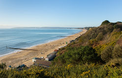 View to the west Bournemouth beach and coast Dorset England UK Royalty Free Stock Image