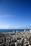 Tel-Aviv Cityscape. A view to the west showing part of the cityscape  and beach of Tel-Aviv, the largest metropolis in Israel Royalty Free Stock Photos