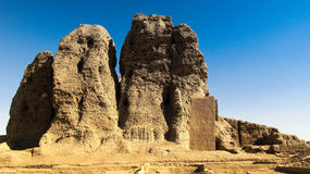 View to Western Deffufa temple in Kerma, Nubia Sudan Royalty Free Stock Photography
