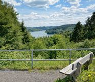 View to Wiehltalsperre Reservoir,Bergisches Land,Germany Stock Images