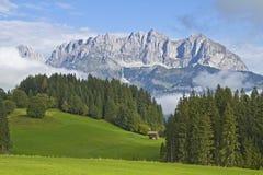 View to Wilder Kaiser mountains Royalty Free Stock Photos