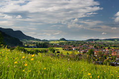 View to wonderfull village of pfronten Stock Photos