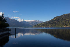 View To Zell Am See Lake Zell & Kitzsteinhorn Royalty Free Stock Images