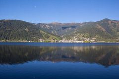 View To Zell Am See Lake Zell & Kitzsteinhorn Stock Photo