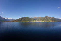 View To Zell Am See Lake Zell & Kitzsteinhorn Royalty Free Stock Photo