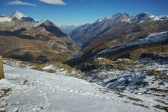 View to Zermatt Resort, Alps, Canton of Valais, Switzerland Royalty Free Stock Images