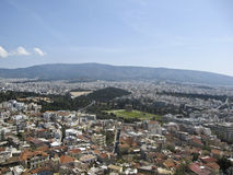 View to Zeus temple with the Olympic stadium in th Royalty Free Stock Photos