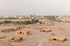 View to the Zoroastrian temples ruins in Yazd Stock Image