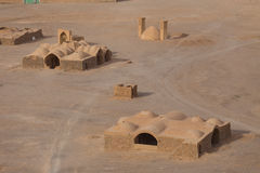 View to the Zoroastrian temples ruins in Yazd Royalty Free Stock Images
