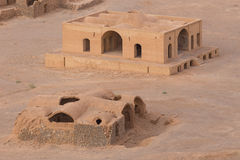 View to the Zoroastrian temples ruins in Yazd Stock Photo