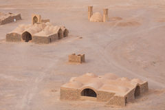 View to the Zoroastrian temples ruins in Yazd Stock Photos