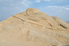 View to the Zoroastrian Tower of Silence in Yazd, Iran. Stock Image