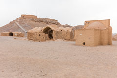 View to the Zoroastrian Tower of Silence in Yazd Stock Photo