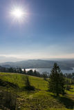 View to Zugersee ans Swiss Alps from Zugerberg, Switzerland Royalty Free Stock Photography