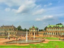 The view to the Zwinger Palace Royalty Free Stock Photos