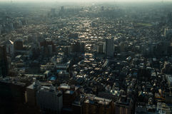 View from TOCHO Tokyo Metropolitan Government Building over Tokyo Royalty Free Stock Photos