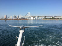 View of the Tokyo Bay with the Rainbow bridge Royalty Free Stock Photo
