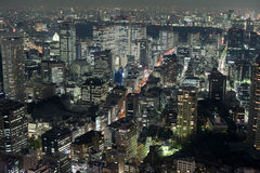 View of Tokyo buildings at night Stock Image