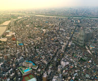 The view of Tokyo city from the top level of Tokyo Sky Tree.  Stock Photo