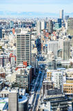 View of Tokyo city in winter from Tokyo tower Stock Photo