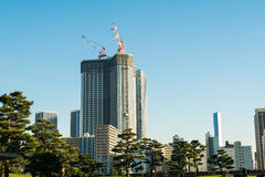 View of tokyo cityscape with park Royalty Free Stock Photos