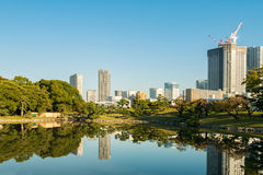 View of tokyo cityscape with park Stock Photos