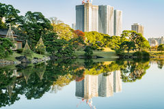 View of tokyo cityscape with park Royalty Free Stock Photo