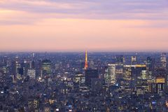 View of Tokyo cityscape stock image