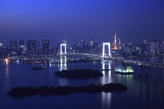 View of Tokyo downtown at night Stock Image