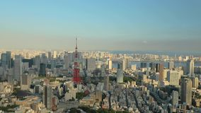 Tokyo city aerial view stock video footage