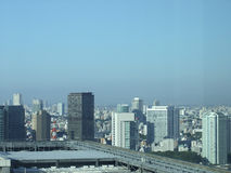 View of Tokyo Japan. TOKYO, JAPAN - AUGUST 26, 2012: View of the city of Tokyo in Japan Royalty Free Stock Images