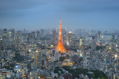View of Tokyo Skyline Tokyo, Japan. Stock Photos