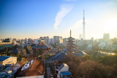 View of Tokyo skyline at twilight Royalty Free Stock Image