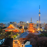 View of Tokyo skyline at twilight Stock Image
