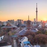 View of Tokyo skyline at twilight Stock Photos