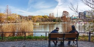 Sinobazu pond royalty free stock image