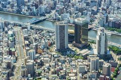 View from Tokyo Skytree royalty free stock images