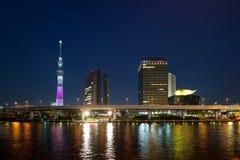 View of Tokyo at Sumida river Stock Photos