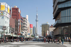 View of Tokyo Tower from Asakusa, Tokyo. View of Tokyo Tower from Asakusa, Tokyo, Japan royalty free stock photography