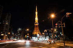 View of Tokyo tower at night Royalty Free Stock Photo