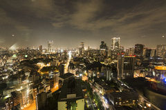 View from the Tokyo tower at night Stock Photo